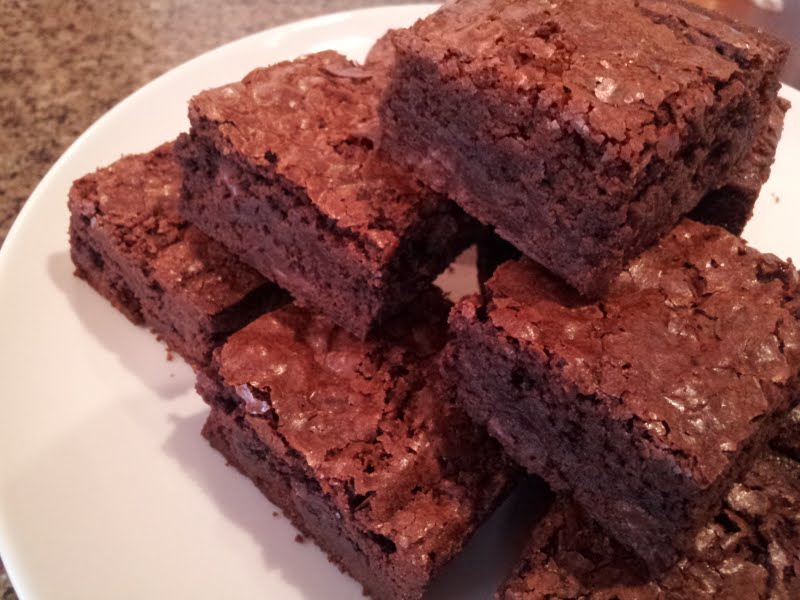Deep, Dark, Rich, and Chewy Brownies! | Just One Bite, Please?