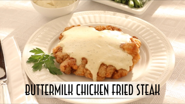Buttermilk Chicken Fried Steak YouTube Blog Thumbnail