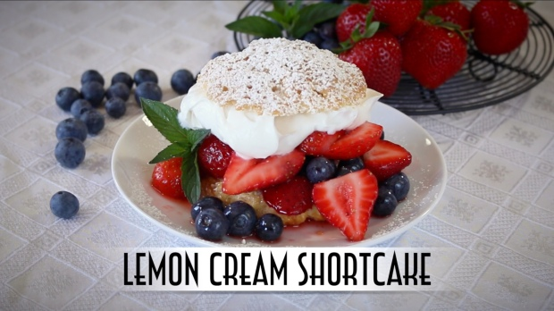 Lemon Cream Shortcake YouTube Thumbnail