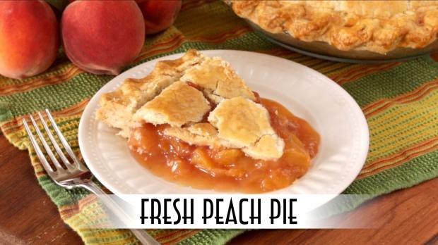 Fresh Peach Pie Thumbnail for YouTube