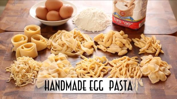 Homemade Egg Pasta Thumbnail for YouTube